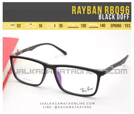 Model Kacamata Minus Terbaru Rayban RB096 Black Doff