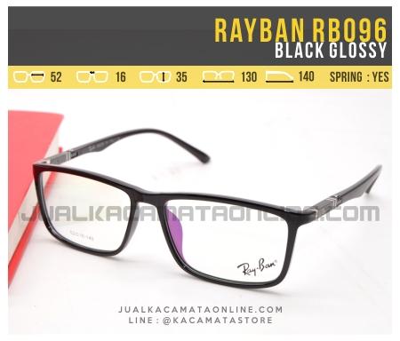 Harga Kacamata Minus Terbaru Rayban RB096 Black Glossy
