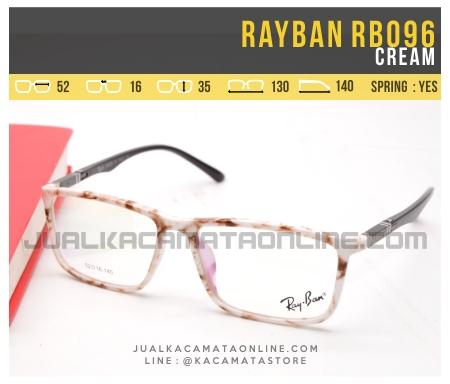 Jual Kacamata Minus Terbaru Rayban RB096 Cream