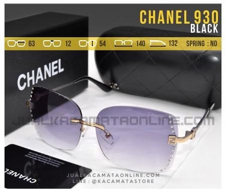 Harga Kacamata Terbaru Untuk Cewek Chanel 930 Black