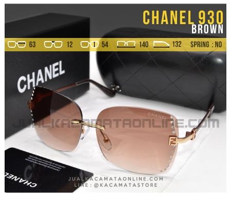 Model Kacamata Terbaru Untuk Cewek Chanel 930 Brown