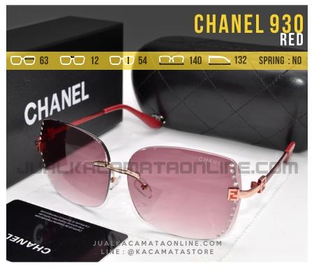 Jual Kacamata Terbaru Untuk Cewek Chanel 930 Red
