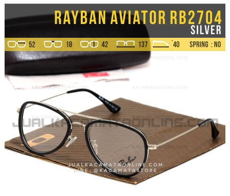 Jual Frame Kacamata Rayban Aviator RB2704 Silver