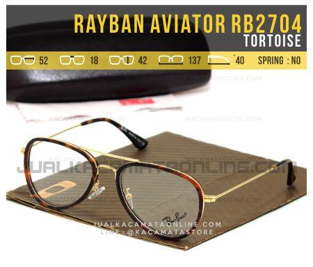 Gambar Frame Kacamata Rayban Aviator RB2704 Tortoise