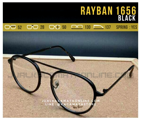 Model Kacamata Optik Rayban RB1656 Black
