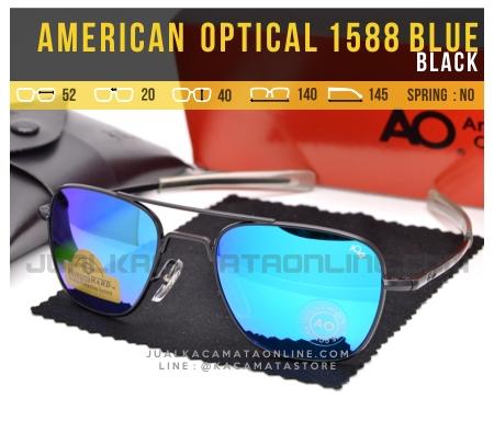 Kacamata Pilot American Optical Aviator 1588 Blue Black