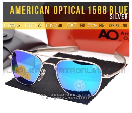 Kacamata Pilot American Optical Aviator 1588 Blue Silver