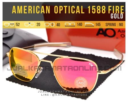 Model Kacamata Pilot American Optical Aviator 1588 Fire Gold