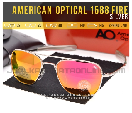 Jual Kacamata Pilot American Optical Aviator 1588 Fire Silver