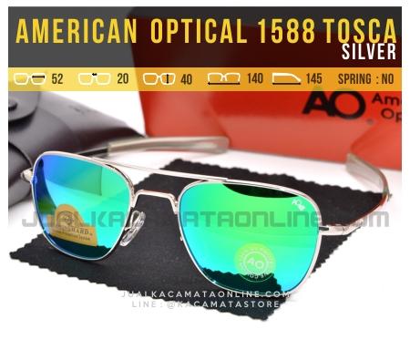 Jual Kacamata Pilot American Optical Aviator 1588 Tosca Silver
