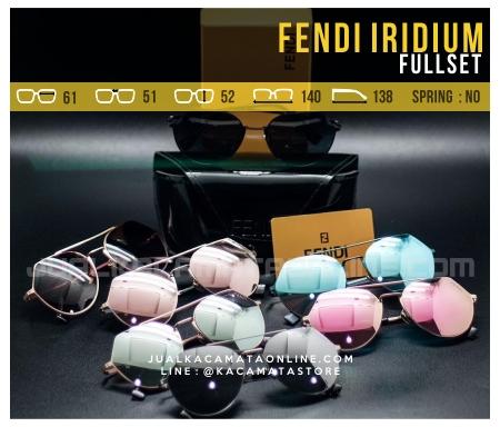 Model Kacamata Fashion Terbaru Fendi Iridium Fullset