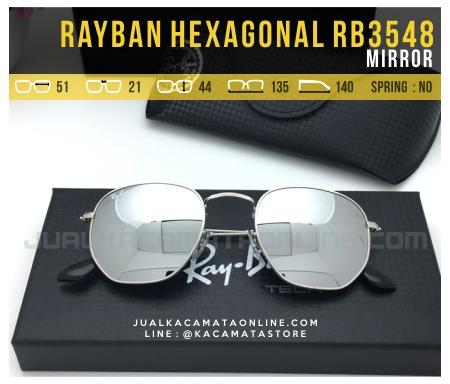 Jual Kacamata Fashion Terbaru Rayban Hexagonal RB3548 Mirror
