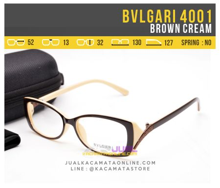 Model Kacamata Minus Bvlgari Syahrini 4001 Brown Cream