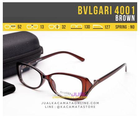 Grosir Kacamata Minus Bvlgari Syahrini 4001 Brown