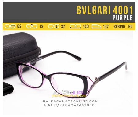 Jual Kacamata Minus Bvlgari Syahrini 4001 Purple