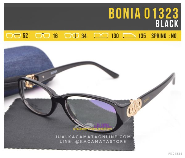 Frame Kacamata Minus Untuk Wanita Bonia 01323 Black