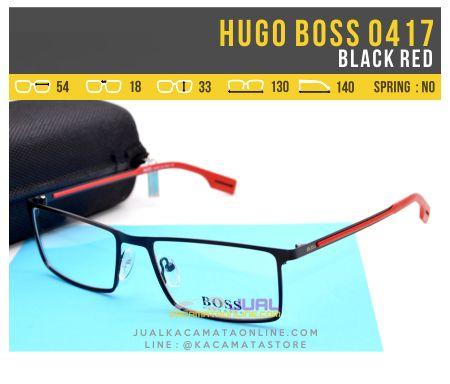 Frame Kacamata Minus Hugo Boss 0417 Black Red