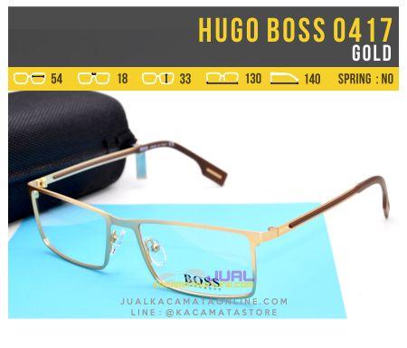Frame Kacamata Pria Hugo Boss 0417 Gold
