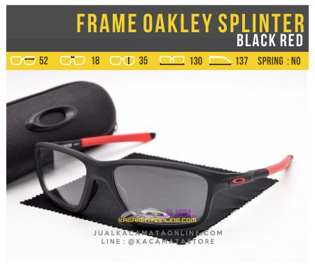 Gambar Frame Kacamata Oakley Splinter OX8080 Black Red