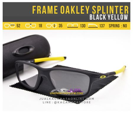 Model Frame Kacamata Oakley Splinter OX8080 Black Yellow