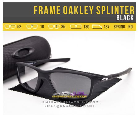 Model Frame Kacamata Pria Oakley Splinter OX8080 Black