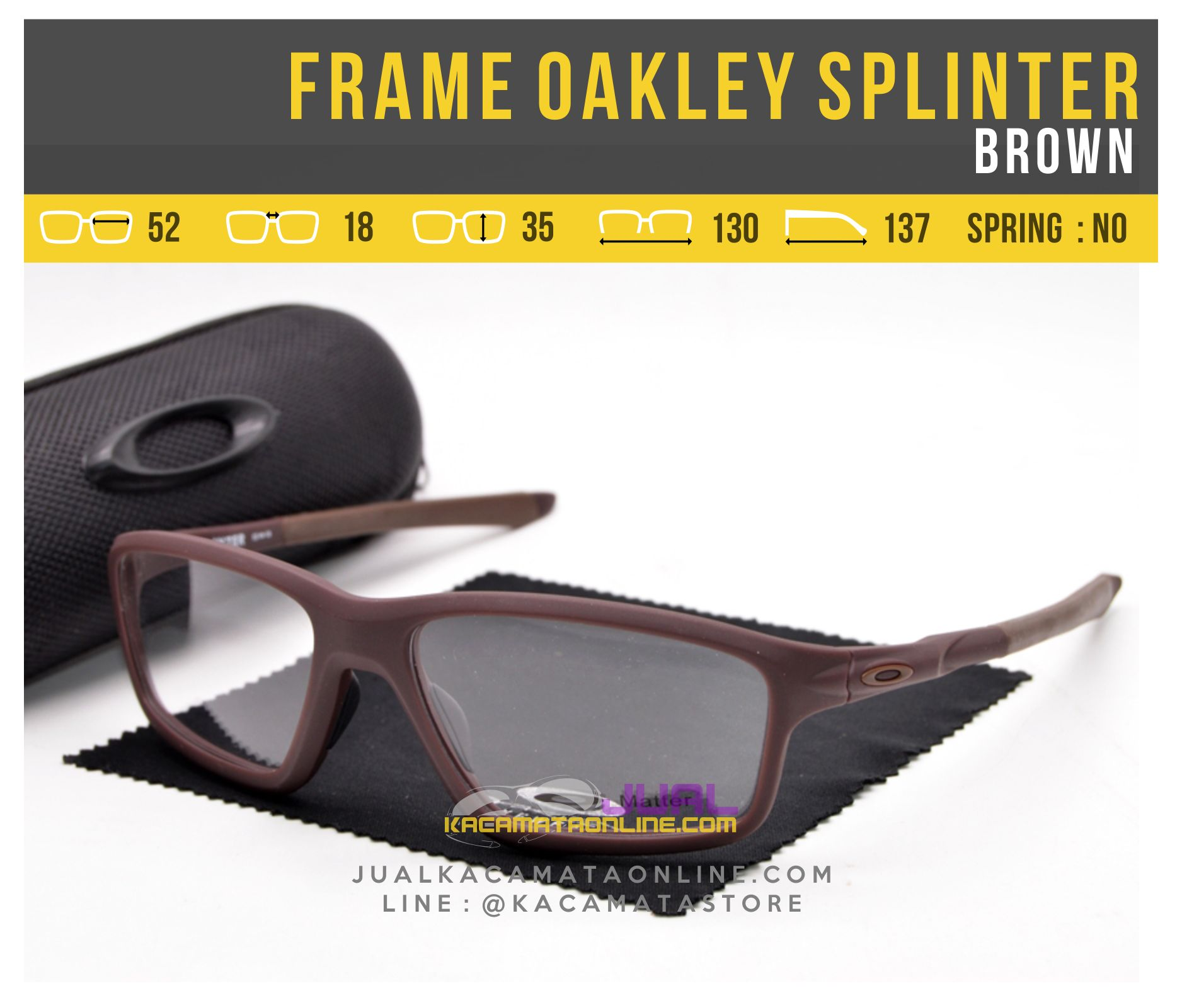 Jual Frame Kacamata Oakley Splinter OX8080 Brown
