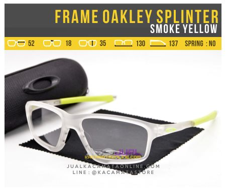 Frame Kacamata Pria Oakley Splinter OX8080 Smoke Yellow