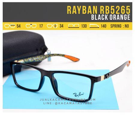Gambar Frame Kacamata Murah Rayban RB5262 Black Orange