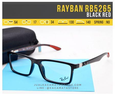 Gambar Frame Kacamata Optik Rayban RB5262 Black Red
