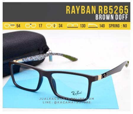 Model Frame Kacamata Baca Rayban RB5262 Brown Doff
