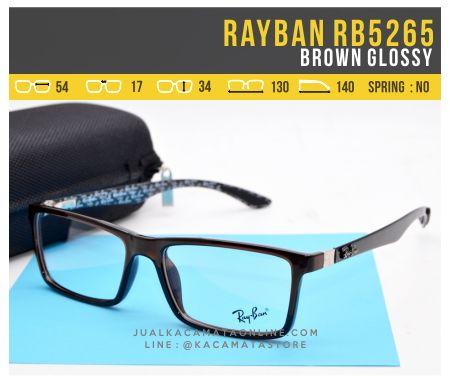 Jual Frame Kacamata Minus Rayban RB5262 Brown Glossy