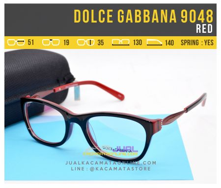 Frame Kacamata Wanita Dolce Gabbana 9048 Red