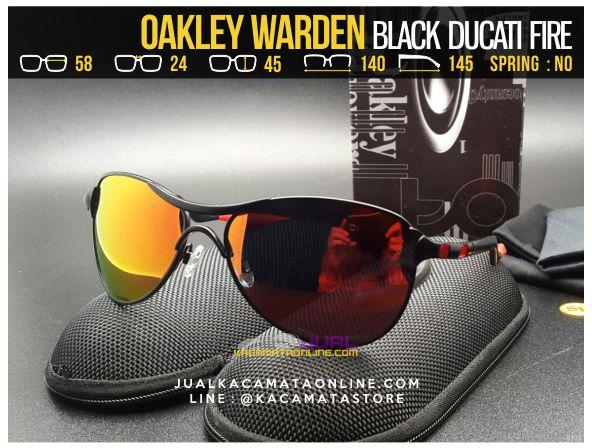 Jual Kacamata Pria Terbaru Oakley Warden Black Ducati Fire