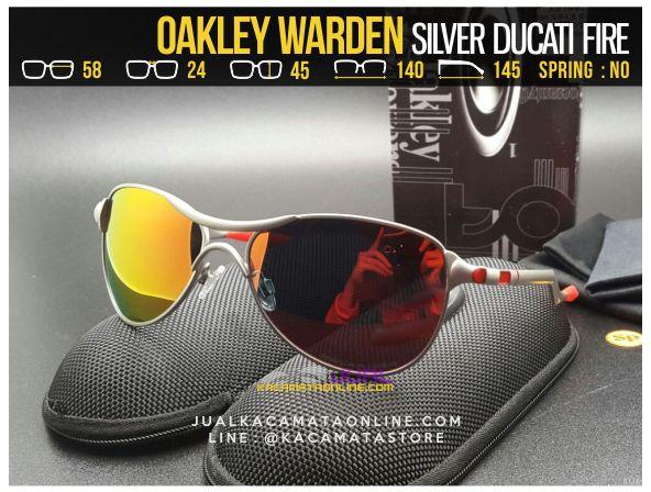 Grosir Kacamata Pria Terbaru Oakley Warden Silver Ducati Fire