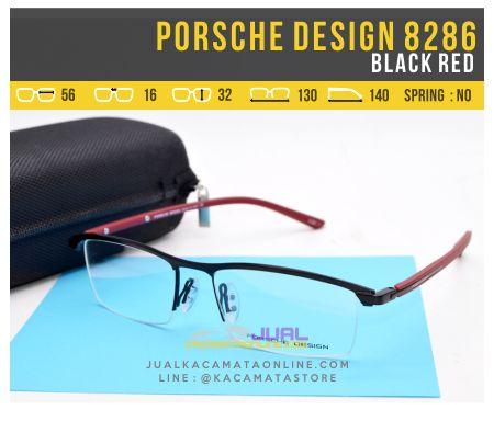 harga Kacamata Pria Terbaru Porsche Design 8286 Black Red