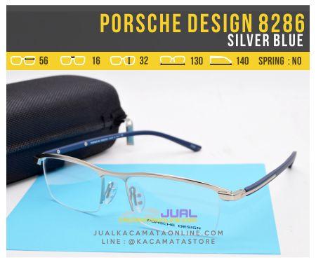Gambar Kacamata Pria Terbaru Porsche Design 8286 Silver Blue