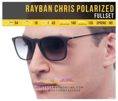 Gambar Kacamata Rayban Chris Polarized Cowok