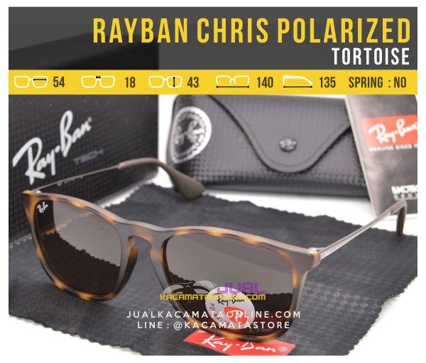 Jual Kacamata Rayban Chris Polarized Tortoise