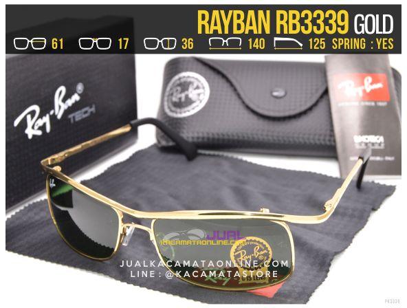 Gambar Kacamata Rayban Terbaru Rb3339 Gold