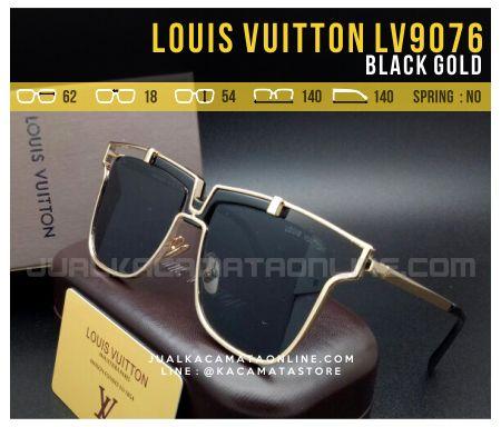 Gambar Kacamata Terbaru 2017 Louis Vuitton LV9076 Black Gold