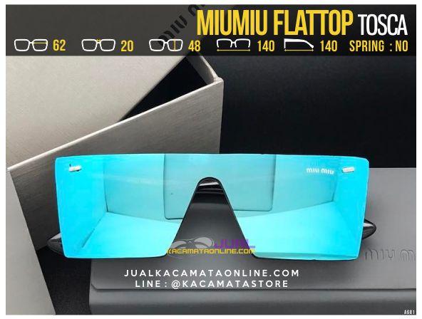 Gambar Kacamata Wanita Terbaru MiuMiu Flattop Tosca