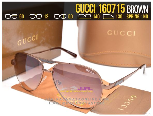 Trend Kacamata Cewek Gucci 160715 Brown