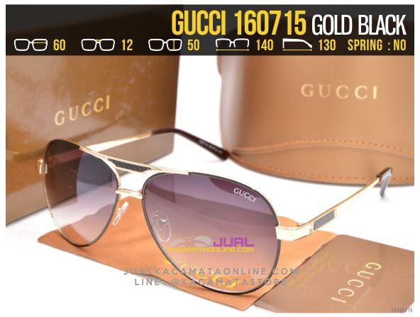Model Kacamata Cewek Gucci 160715 Gold Black