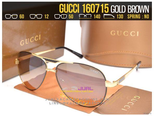 Gambar Kacamata Cewek Gucci 160715 Gold Brown