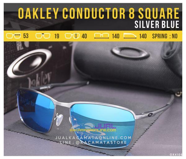 Gambar Kacamata Oakley Terbaru Conductor 8 Square Silver Blue