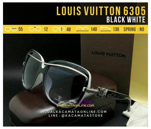 Model Kacamata Cewek Terbaru Louis Vuitton 6305 Black White