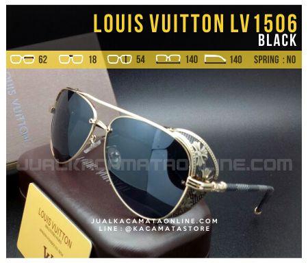 Model Kacamata Terbaru Louis Vuitton LV1506 Black