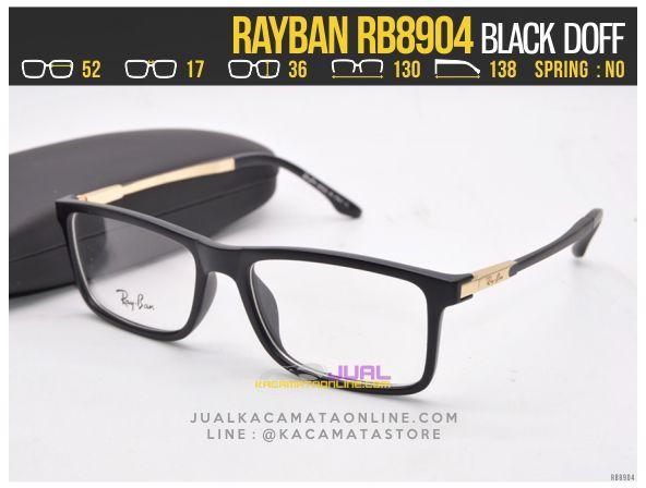 Gambar Frame Kacamata Baca Rayban RB8904 Black Doff