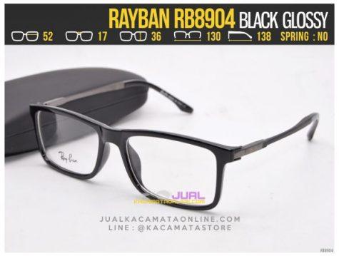 Grosir Frame Kacamata Baca Rayban RB8904 Black Glossy