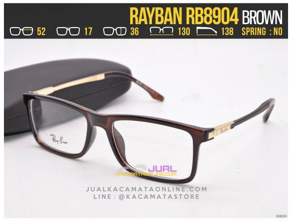 Trend Frame Kacamata Baca Rayban RB8904 Brown